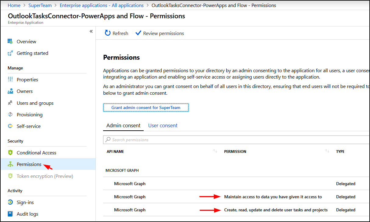 How to grant permissions to one or more users to use the Outlook