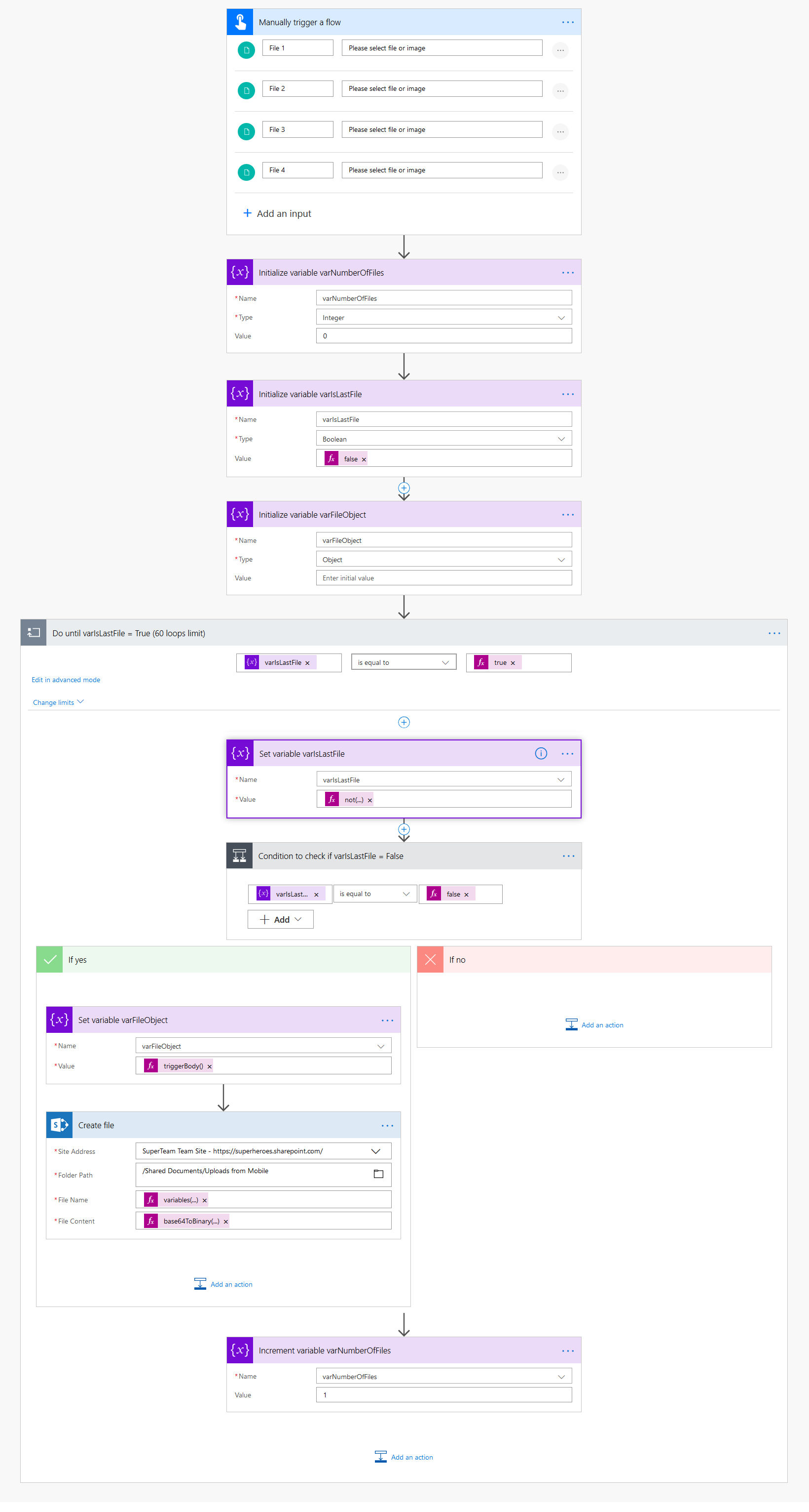 Flow: how to upload pictures on demand to SharePoint - Alex