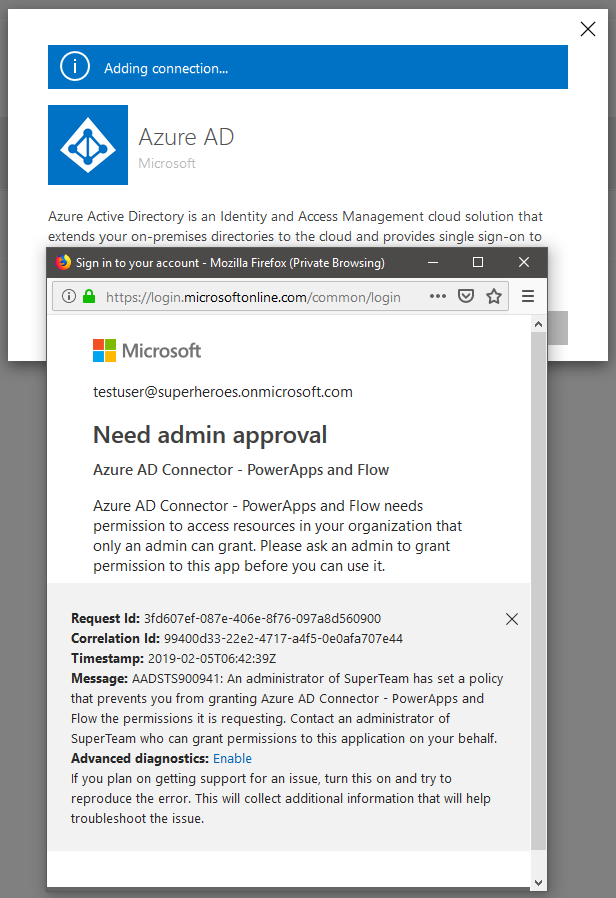 How to grant permissions to users to use the Azure AD connector in