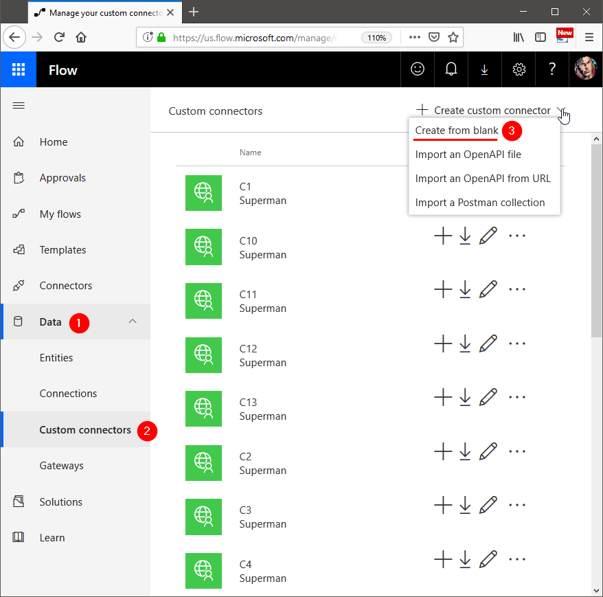 How to build a custom connector for Flow and PowerApps to